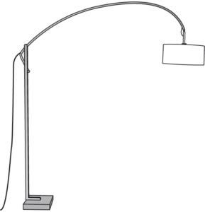 FLOOR STANDARD LAMP WHITE SHADE