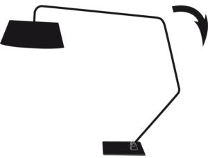 FLOOR STANDARD LAMP - READING LAMP BLACK