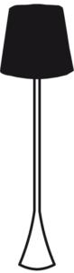 TABLE LAMP BLACK SHADE
