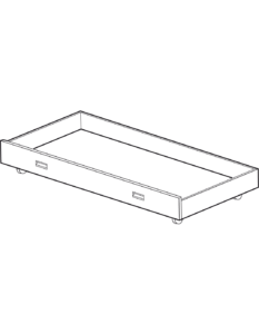 drawer 90 x 200 for companion bed w 90 or w 120 white laminate