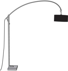 FLOOR STANDARD LAMP BLACK SHADE