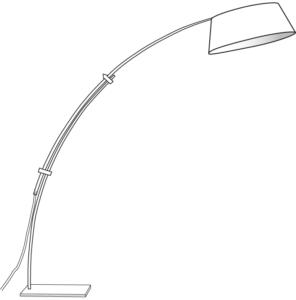 FLOOR STANDARD LAMP WHITE