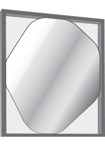 mirror small walnut