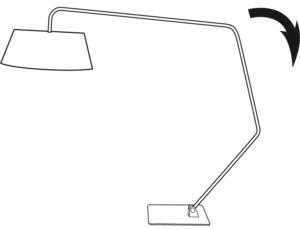 FLOOR STANDARD LAMP - READING LAMP WHITE