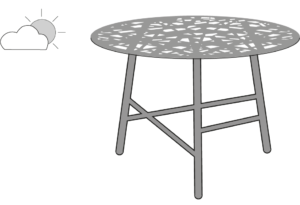 OCCASIONAL TABLE ARGILE LACQUER INDOOR / OUTDOOR