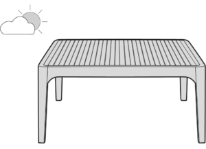 LOW TABLE SQUARE INDOOR / OUTDOOR