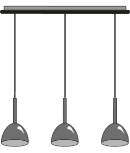 suspended ceiling light 3 cables