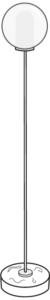 reading lamp chromed steel structure / white base