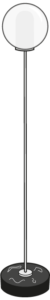 reading lamp brass-coated steel structure / black base