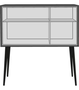 sideboard black / brass