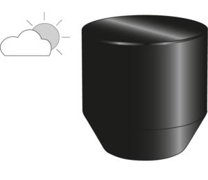 OCCASIONAL TABLE BLACK INDOOR / OUTDOOR